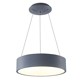 billige Hengelamper-Drum Anheng Lys Omgivelseslys Malte Finishes Metall Mini Stil, LED 110-120V / 220-240V Varm Hvit / Hvit LED lyskilde inkludert / Integrert LED