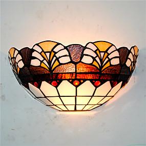 billige Tiffany Lamper-CXYlight Tiffany / Rustikk / Hytte / Traditionel / Klassisk Vegglamper Metall Vegglampe 110-120V / 220-240V 60W / E26 / E27