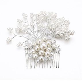 Ženy Slitina Imitace perly Kubický zirkon Přílba-Svatba Zvláštní  příležitost Hřebeny na vlasy Květiny 0836d30e01