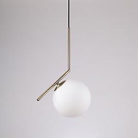 abordables Plafonniers-Globe Lampe suspendue Lumière dirigée vers le bas Plaqué Métal Verre Style mini 110-120V / 220-240V / E12 / E14