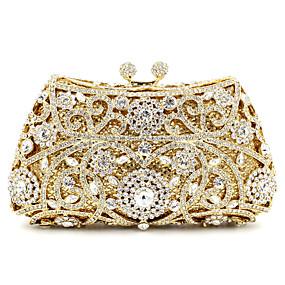 142c82485f8c Women's Bags Metal Evening Bag Crystal / Rhinestone Floral Print Golden /  Khaki / Rose Gold / Rhinestone Crystal Evening Bags / Wedding Bags /  Rhinestone ...
