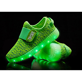 cheap LED Shoes-Boys' Shoes Knit Fall Comfort / Light Up Shoes Athletic Shoes LED for Green / Blue / Pink / TR