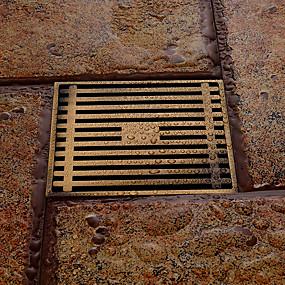 baratos Acessórios de Torneira-Acessório Faucet - Qualidade superior - Moderna Latão Chão de pavimento - Terminar - Latão Antiquado