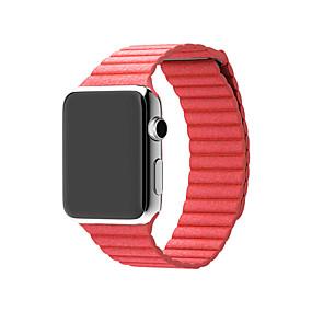 billige Smartwatch Bands-Klokkerem til Apple Watch Series 5/4/3/2/1 Apple Lærrem Ekte lær Håndleddsrem