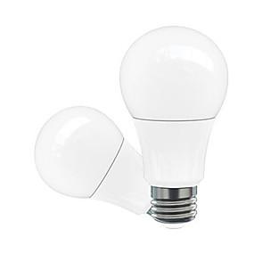 billige Globepærer med LED-1pc 5 W 500-600 lm E26 / E27 LED-globepærer A60(A19) 5 LED perler Høyeffekts-LED Dekorativ Varm hvit / Kjølig hvit / Naturlig hvit 220-240 V / 110-130 V / 85-265 V / 2 stk. / RoHs
