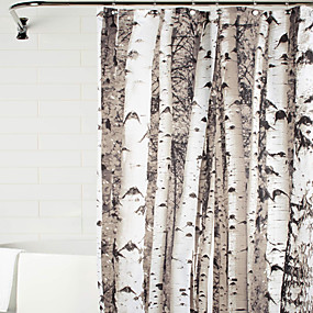 cheap Clearance-Shower Curtains Neoclassical Polyester Floral / Botanical Machine Made