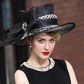 povoljno Kentucky Derby Hat-Pero Lan Glava-Vjenčanje Special Occasion Neformalan Outdoor Fascinators Šeširi 1 komad
