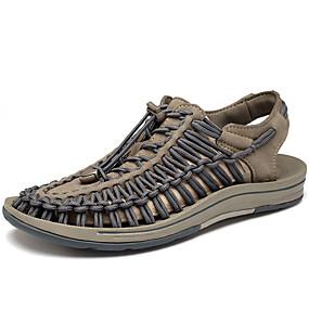 baratos Sandálias Masculinas-Homens Sapatos Confortáveis Tricô Verão / Outono Sandálias Tênis Anfíbio Vermelho / Cinzento / Atlético / Casual / Ao ar livre