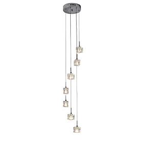 abordables Plafonniers-UMEI™ 7 lumières Lampe suspendue Lumière d'ambiance - Cristal, LED, Designers, 110-120V / 220-240V, Blanc Crème / Blanc, Ampoule incluse / G4 / 10-15㎡
