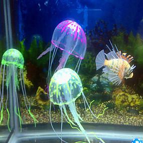 billiga Tillbehör till fiskar och akvarium-Akvariedekorationer Manet Ornament Justerbara Konstgjord Giftfri och smaklös Ljudlös Silikon