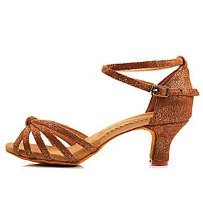3206e5f0b9 Mujer Seda Zapatos de Baile Latino / Zapatos de Salsa Hebilla Tacones Alto  Tacón Personalizado Personalizables Negro y Plateado / Rosa / Morrón Oscuro  ...