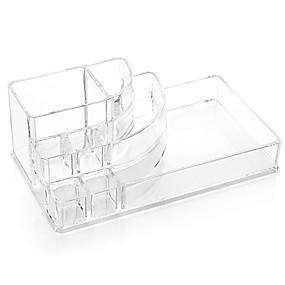 billiga Sminkväskor, askar ochlådor-Sminkredskap Kosmetika förvaring Smink 1 pcs Akrylfiber Kvadrat Dagligen Kosmetisk Skötselprodukter