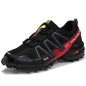 baratos Sapatos Esportivos Masculinos-Homens Sapatos Confortáveis Tule / Couro Ecológico Primavera / Outono Tênis Corrida Preto / Vermelho / Azul Escuro / Cinzento / Atlético / Cadarço / EU40