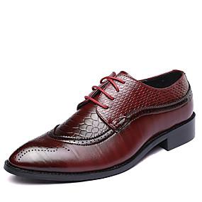 baratos Oxfords Masculinos-Homens Sapatos formais Couro Primavera / Outono Formais Oxfords Caminhada Preto / Marron / Vermelho / Casamento / Festas & Noite / Combinação / Festas & Noite / Fashion Boots