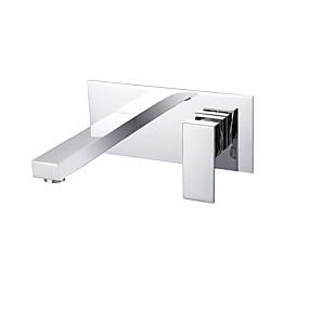 abordables Offres de la Semaine-Robinet lavabo - Montage mural Chrome Montage mural 2 trous / Mitigeur deux trousBath Taps