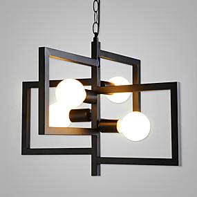 abordables Plafonniers-4 lumières Géométrique Lampe suspendue Lumière d'ambiance Finitions Peintes Métal Mat, Éclairage, Conception spéciale 110-120V / 220-240V Ampoule non incluse / E26 / E27