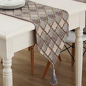billige Bordduker-Moderne Bomullsblanding Duge Printer Mønster Borddekorasjoner 1 pcs