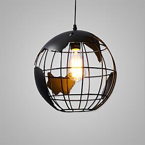 abordables Plafonniers-Lampe suspendue Lumière d'ambiance Finitions Peintes Métal Mat, Style mini, Ajustable 110-120V / 220-240V / E26 / E27