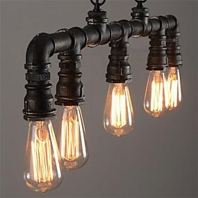 abordables Plafonniers-5 lumières Plafonnier pour Ilôt de Cuisine Lampe suspendue Lumière d'ambiance Finitions Peintes Métal Style mini 110-120V / 220-240V / E26 / E27