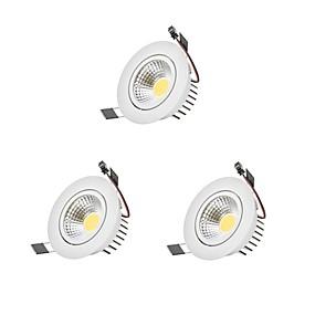 billige Innfelte LED-lys-9 W 1 LED perler Mulighet for demping Led-Nedlys 110-220 V Barneværelser Stue / spisestue Soveværelse / 3 stk.