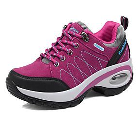 baratos Sapatos Esportivos Femininos-Mulheres Tênis Salto Plataforma Ponta Redonda Combinação Camurça Conforto Aventura Outono / Inverno Cinzento / Roxo / Fúcsia / EU40
