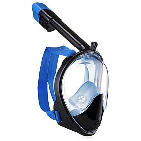 povoljno Dnevne ponude-Ronjenje Maske Maska za ronjenje Maske za cijelo lice podvodni 180 stupnjeva Jedan prozor - Plivanje Ronjenje Silikon Fiber Glass - za Odrasli Crvena Plava Pink / Anti-Magla