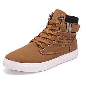 voordelige Wijdere maten schoenen-Heren Comfort schoenen PU Lente / Herfst Sneakers Wandelen Zwart / Groen / zwart / wit / ulko- / Lichte zolen / EU40