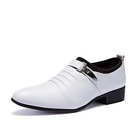 halpa Miesten Oxford-kengät-Miesten Muodolliset kengät PU Syksy / Talvi Englantilainen Oxford-kengät Valkoinen / Musta / Juhlat / Juhlat / Juhlakengät / Comfort-kengät / EU40
