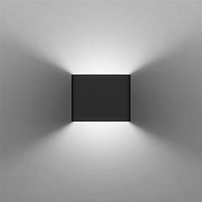 billige Vegglamper-moderne 3w led veggmontert lysarmatur innendørs hall opp nedvegg lampe svart hvit valgfritt