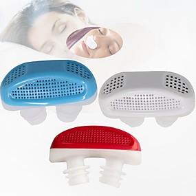 ราคาถูก การท่องเที่ยว-1pcs ช่วยการนอนหลับป้องกันการกรนหยุดจมูกอากาศสะอาดกรองอากาศบริสุทธิ์อุปกรณ์การดูแลสุขภาพสีสุ่ม
