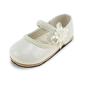 752d9c24bd68 Girls  Shoes Leatherette Spring   Summer Comfort   Flower Girl Shoes Flats  Imitation Pearl   Appliques   Magic Tape for Beige   Wedding