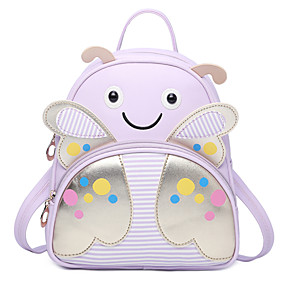 cheap Preschool Backpacks-Bags PU(Polyurethane) Kids' Bag Pattern / Print Character Black / Pink / Purple / Fall & Winter