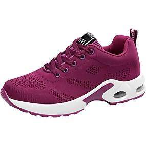 baratos Caminhada-Mulheres Tênis Tricô Conforto Caminhada Primavera / Outono Roxo / Vermelho / Rosa claro / EU39