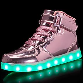 abordables Chaussures pour Fille-Fille Chaussures Cuir Verni / Matières Personnalisées Automne Confort / Chaussures Lumineuses Basket Marche Lacet / La boucle du crochet