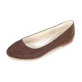 voordelige Damesschoenen met platte hak-Dames Platte schoenen Platte hak Ronde Teen Glitter Ballerina Lente / Zomer Zilver / Rood / Blauw / Feesten & Uitgaan / Formeel