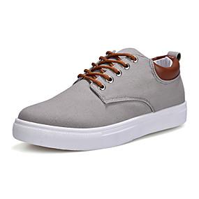 billige Herresneakers-Herre Komfort Sko Kanvas Forår / Efterår Afslappet Sneakers Rød / Blå / Kakifarvet / udendørs / EU40
