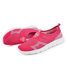 baratos Sapatos Esportivos Femininos-Mulheres Tênis Sem Salto Ponta Redonda Tule Solados com Luzes Caminhada Primavera / Outono Cinzento / Vermelho