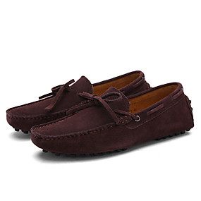 baratos Sapatilhas e Mocassins Masculinos-Homens Sapatos de Condução Couro Primavera / Verão Conforto Mocassins e Slip-Ons Nulo Nulo Café / Azul Real / Vinho