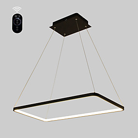 cheap Ceiling Lights & Fans-Ecolight™ Linear Pendant Light Ambient Light Painted Finishes Metal Acrylic Bulb Included, Adjustable, Dimmable 110-120V / 220-240V Warm White / White / Wi-Fi Smart / G9