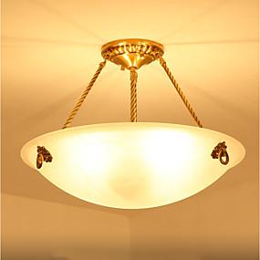 abordables Plafonniers-ZHISHU 3 lumières Inversé Lampe suspendue Lumière d'ambiance Laiton Métal Verre Style mini 110-120V / 220-240V Ampoule non incluse