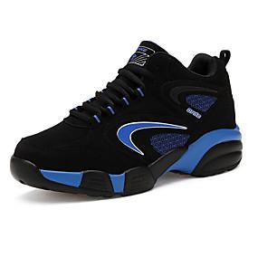 voordelige Wijdere maten schoenen-Heren Comfort schoenen Nubuck leder Lente / Herfst Sportschoenen Basketbal Zwart / Rood / Blauw / EU40