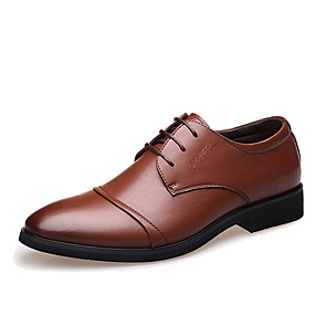 halpa Miesten Oxford-kengät-Miesten Muodolliset kengät Mikrokuitu Kevät / Syksy Liiketoiminta Oxford-kengät Kävely Musta / Ruskea / Häät / Juhlat / Niiteillä / Split Joint / Juhlat