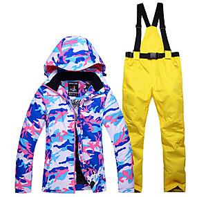 economico Svendita-Snowy Owl Per donna Giacca e pantaloni da sci Ompermeabile Tenere al caldo Antivento Sci Sport invernali Poliestere Set di vestiti Abbigliamento da neve / Inverno