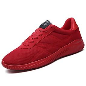 baratos Sapatos Esportivos Masculinos-Homens Sapatos Confortáveis Borracha Outono / Inverno Tênis Caminhada Botas Curtas / Ankle Preto / Vermelho / Cinzento