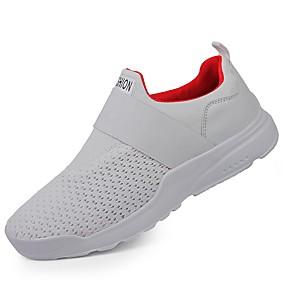 baratos Tênis Masculino-Homens Sapatos Confortáveis Tricô / Com Transparência Outono / Inverno Tênis Preto / Branco / Vermelho / Ao ar livre / Solas Claras / EU40