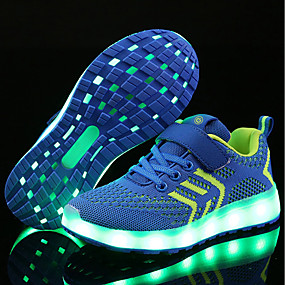 Boys  Shoes Net   Fabric Spring   Winter Comfort   Light Up Shoes Magic  Tape   LED for Blue   Pink   Black   Red   EU36 95a526f66