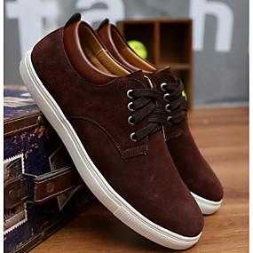 baratos Tênis Masculino-Homens Sapatos Confortáveis Camurça Primavera / Outono Tênis Preto / Camel / Vinho