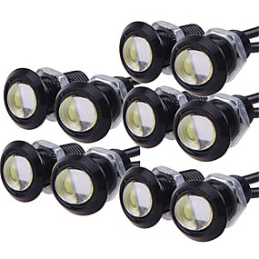 billige Billamper-10pcs Elpærer 9W Høypresterende LED 1 Dagkjøringslys For Universell General motors Alle år