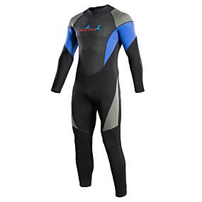 preiswerte Sport & Outdoor-Bluedive Herrn Damen Neoprenanzug 3mm Neopren Tauchanzüge warm halten Rasche Trocknung Langarm Rückenverschluß - Schwimmen Tauchen Surfen Patchwork / Dehnbar