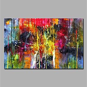 voordelige Life VC-Hang-geschilderd olieverfschilderij Handgeschilderde - Abstract Modern Zonder Inner Frame